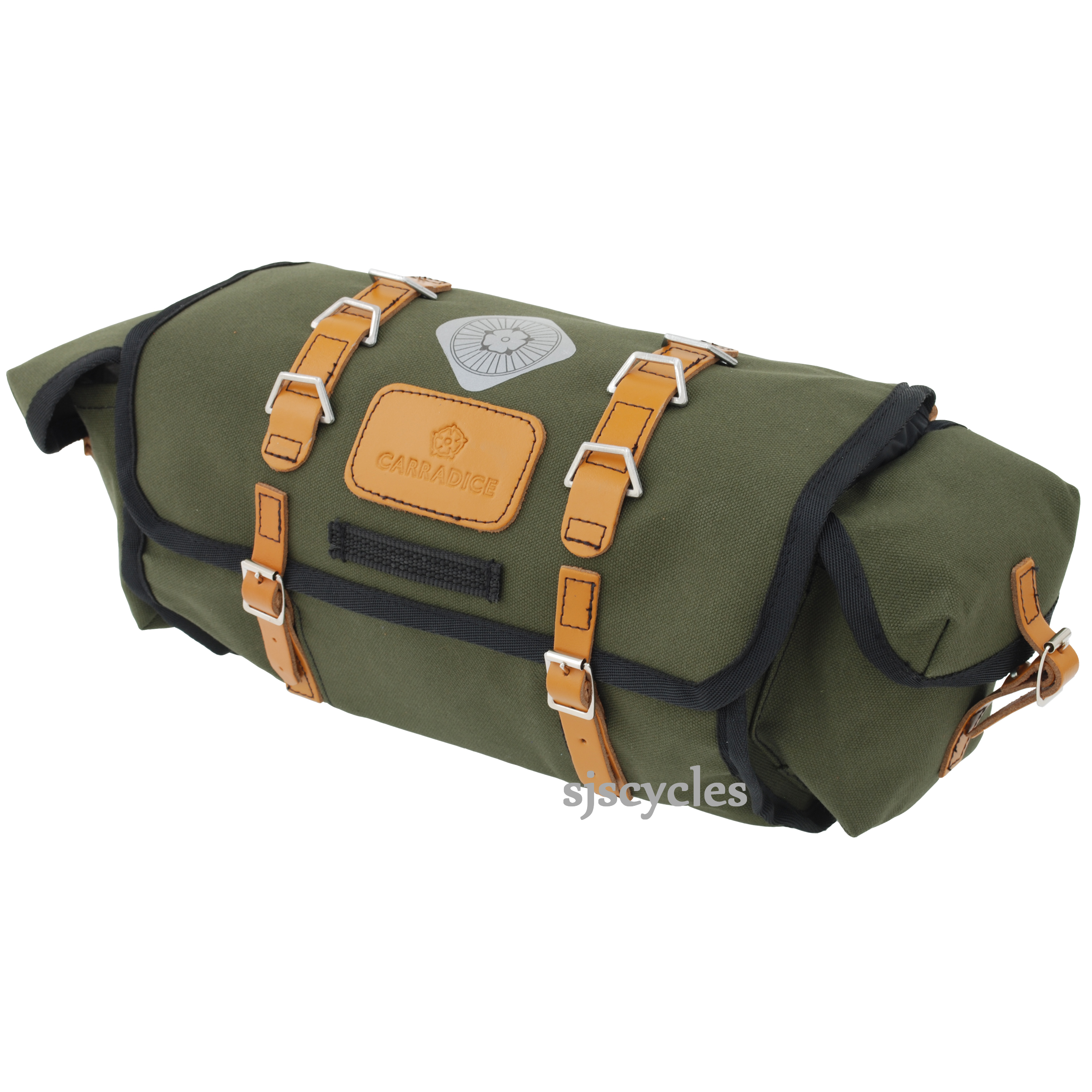 Ladies Uk Made Green 100/% Leather satchel Saddle Bags Available in many colours