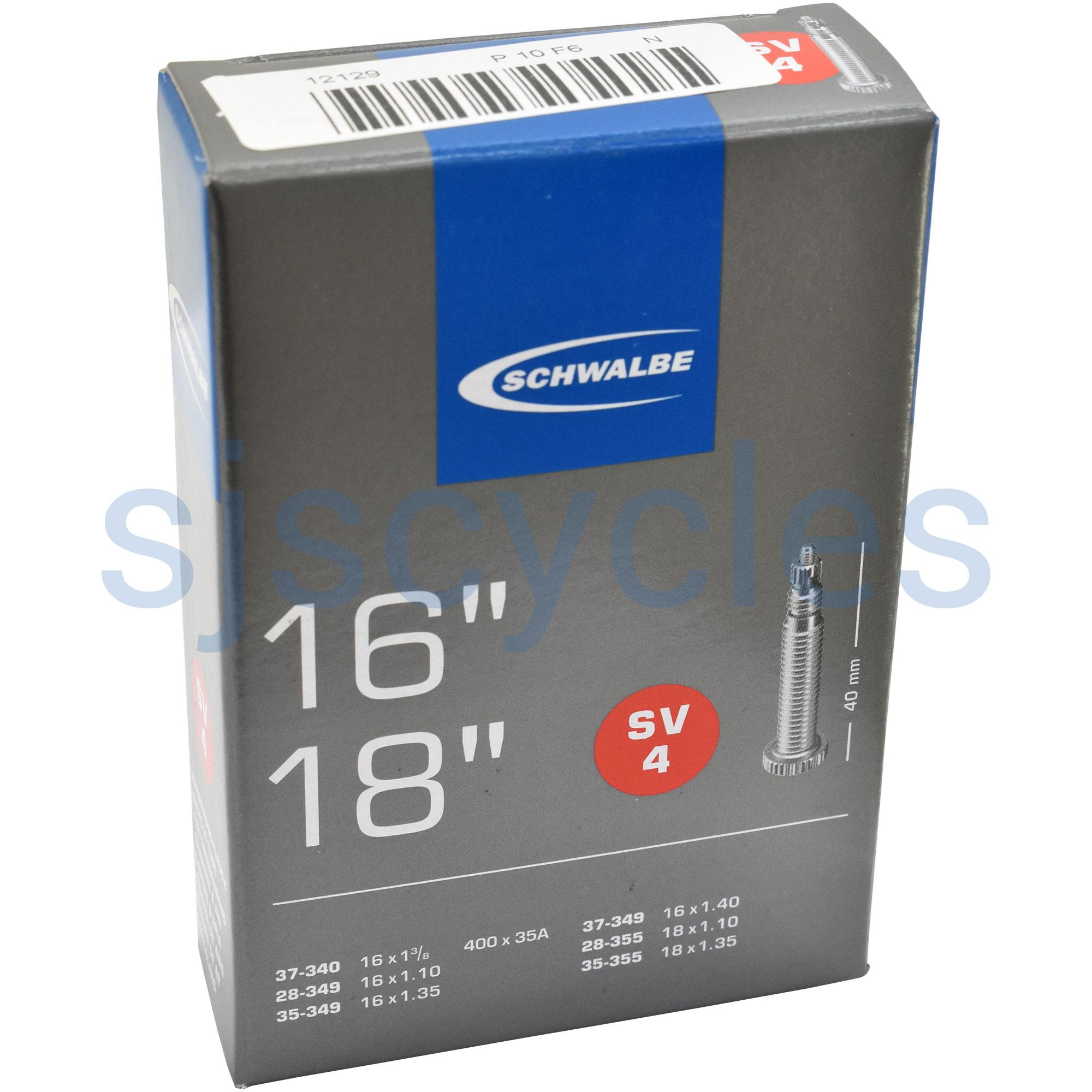 """Schwalbe SV4 16/"""" 18/"""" 1 1//8/"""" 1 3//8/"""" 1/"""" 1,35/"""" Presta Bicycle Inner Tube"""