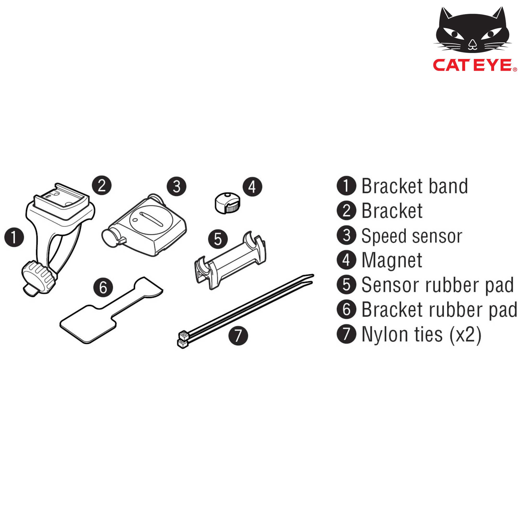Cateye Strada Wireless Parts Kit 2nd Bike