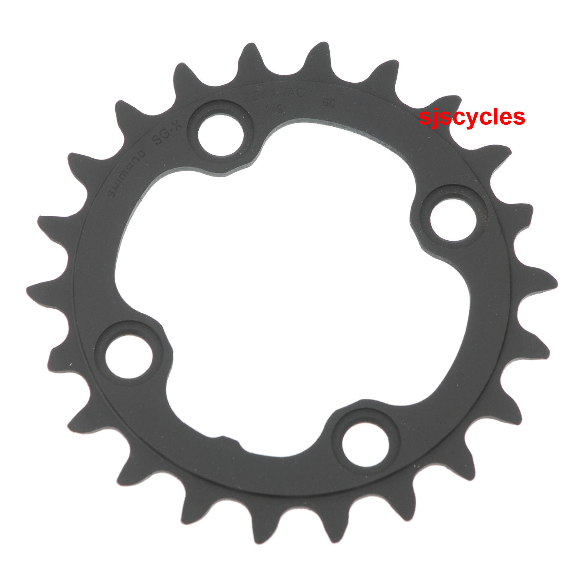 SHIMANO XT M770 22T X 64MM 9-SPEED BLACK BICYCLE CHAINRING