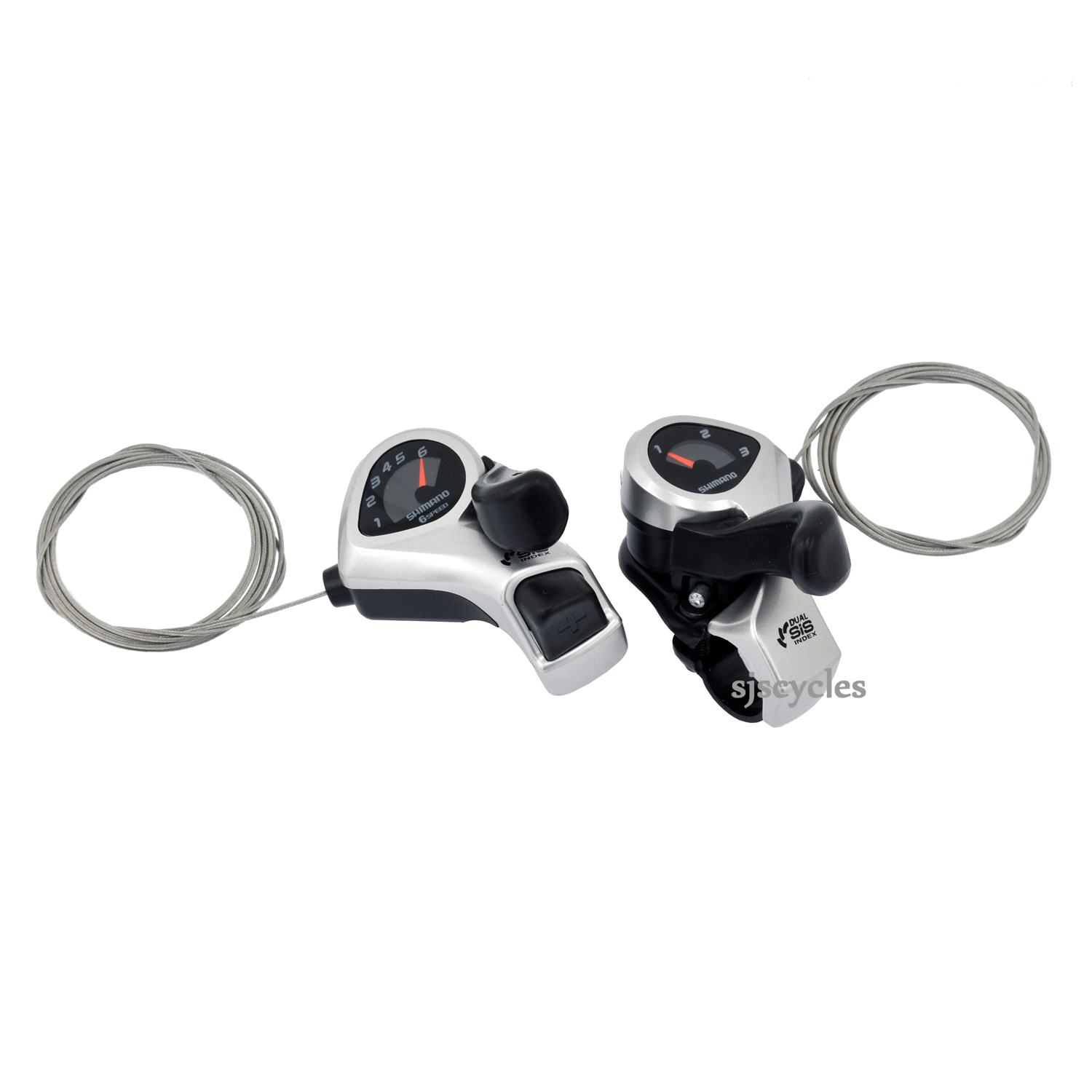 Tourney NEW! Shimano Tourney TY-31 Shifter Set /& Cables 3 x 6 Shifter Set