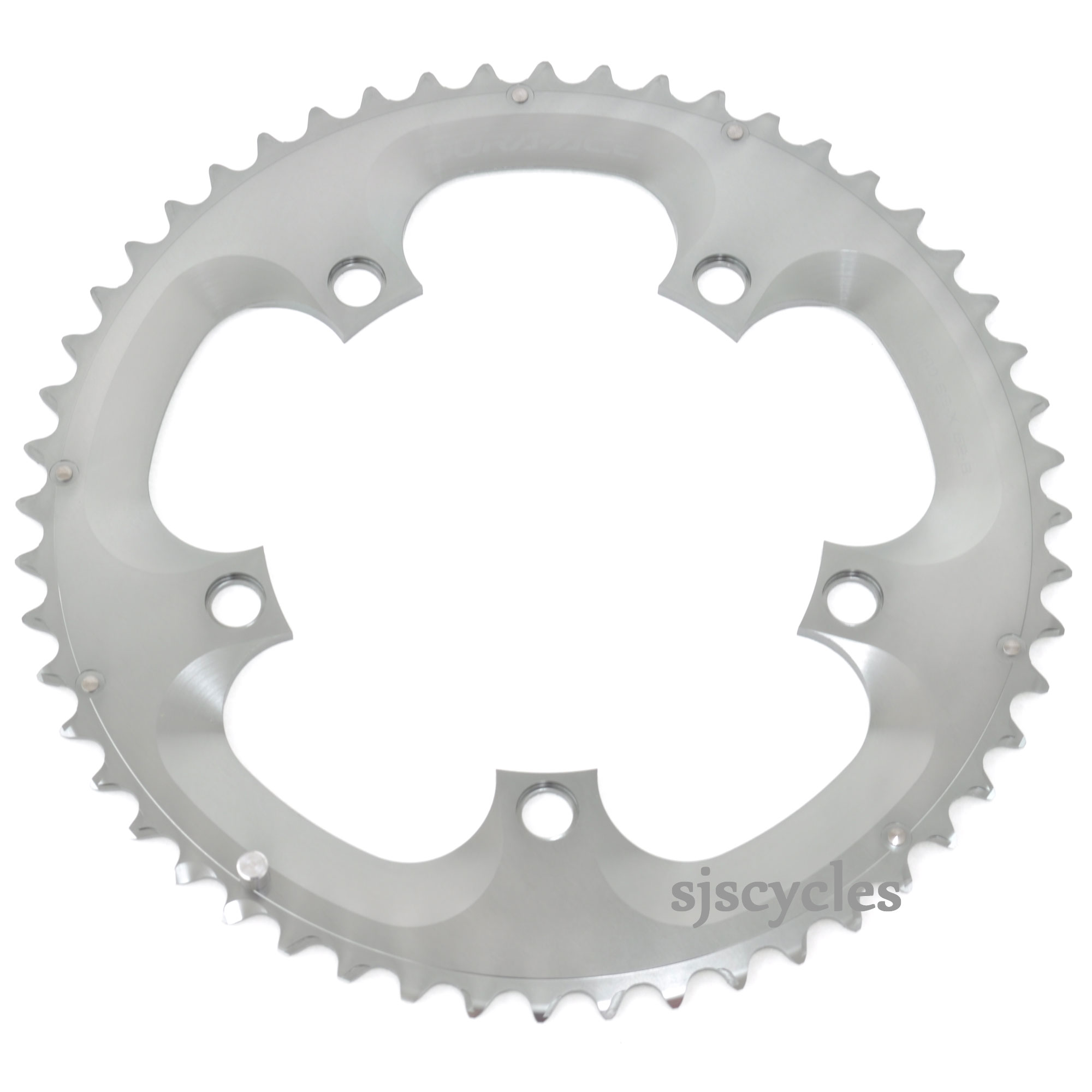 SHIMANO DURA-ACE 7800 39T X 130MM 10-SPEED B-TYPE SILVER BICYCLE CHAINRING