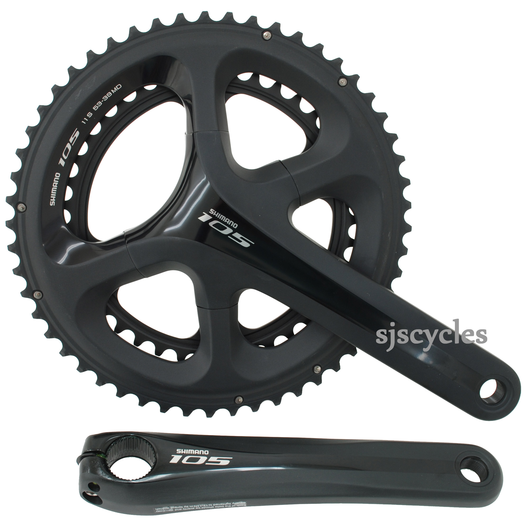 Shimano 105 Fc 5800 11 Spd Double Chainset Speed View Supersize Image