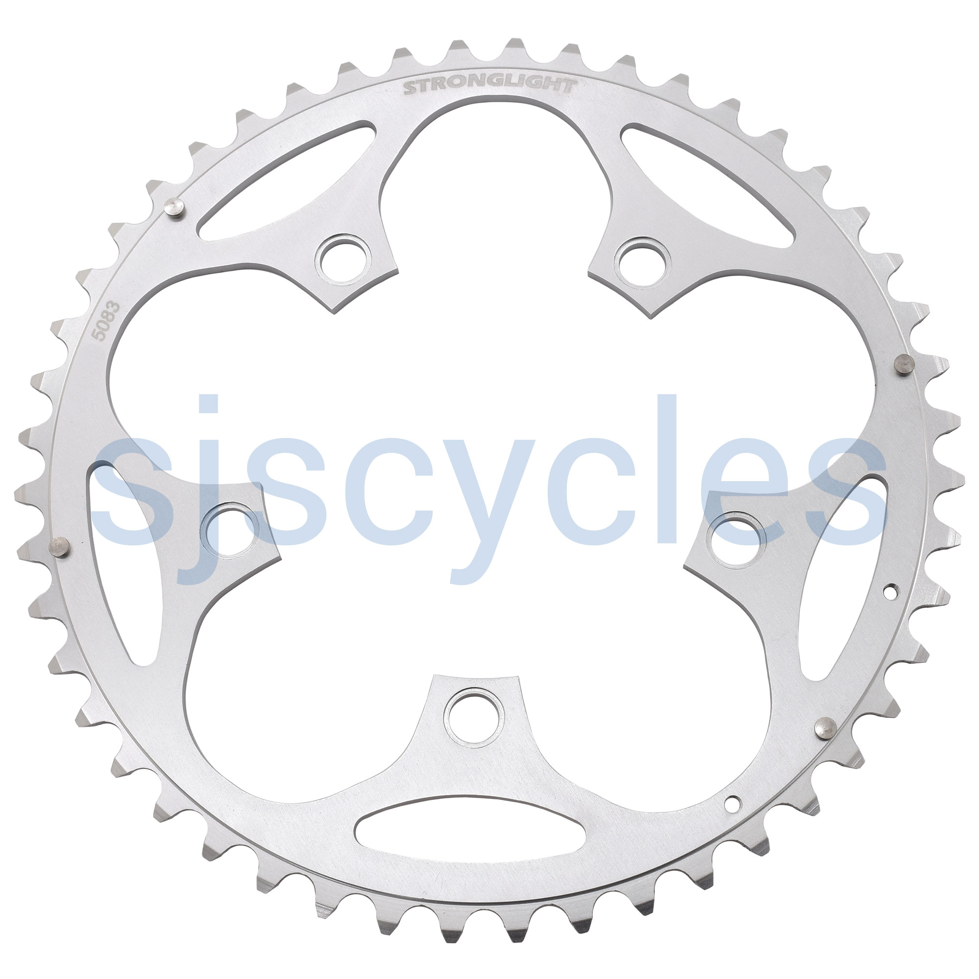 Sugino Alloy outer chainring bolt set single red