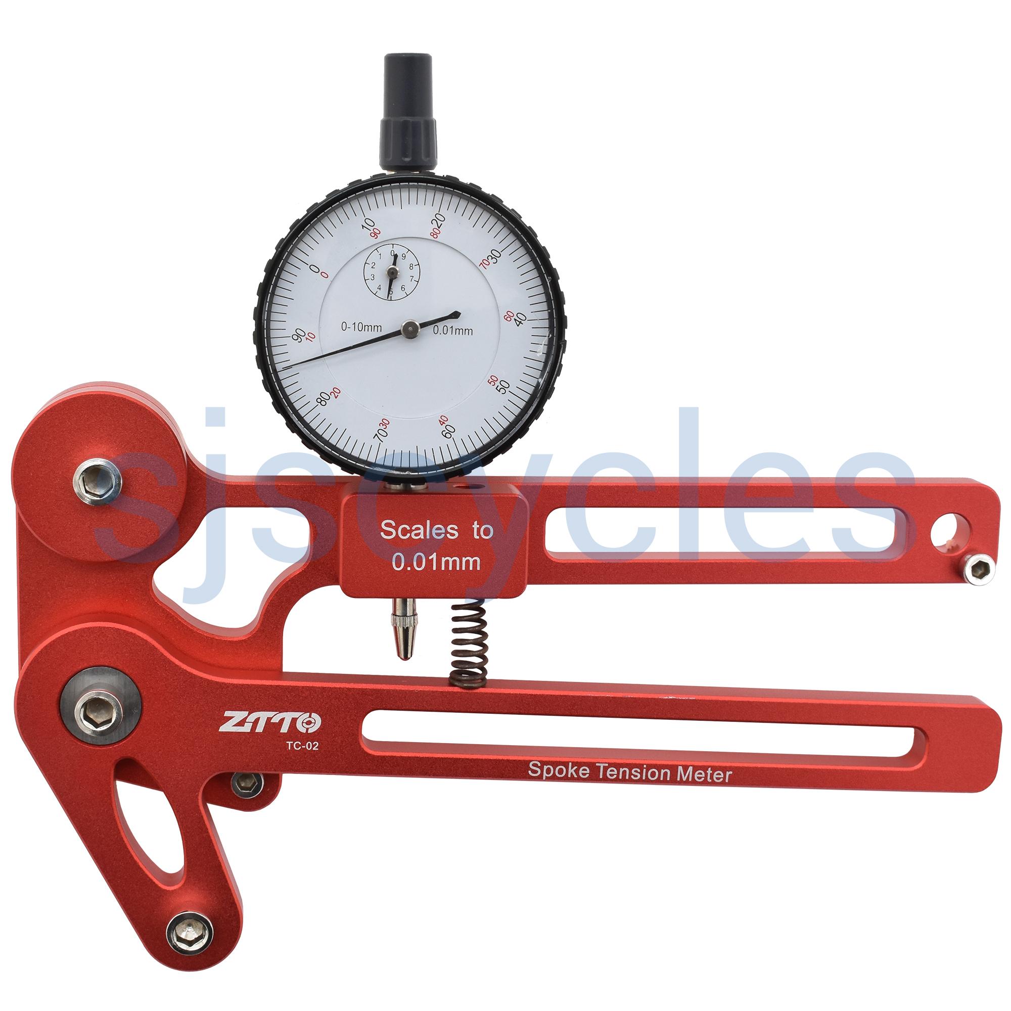 ZTTO Cycle Bicycle Spoke Tension Meter Wheel Steel Ring Correction Gauge Tool hs
